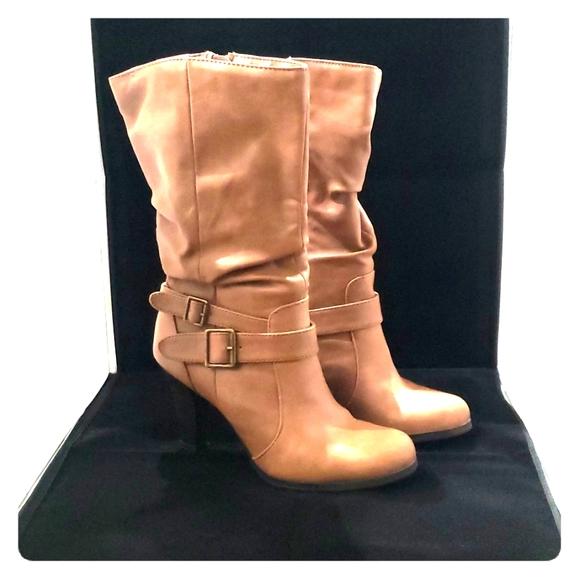 INC International Concepts Womens Tolla Knee High Boot Orange Size 8.5 M US